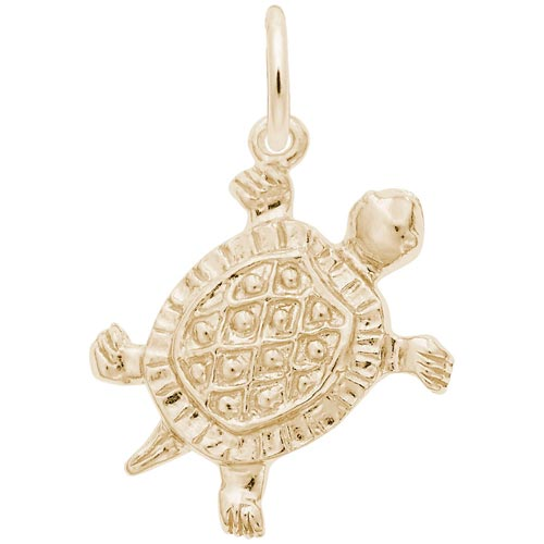 14K Gold Turtle Charm by Rembrandt Charms