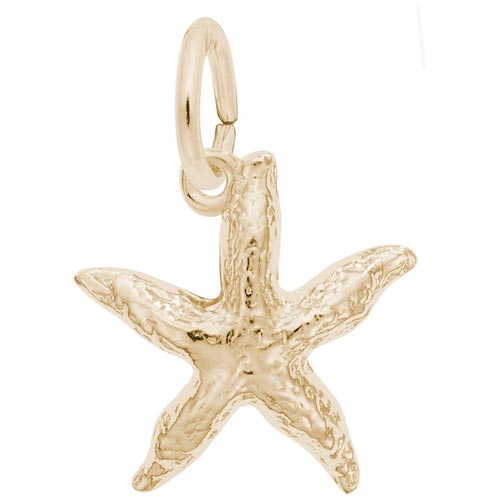 Gold Plate Starfish Charm by Rembrandt Charms