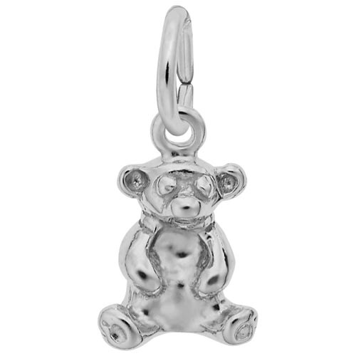 Sterling Silver Sitting Bear Accent Charm by Rembrandt Charms