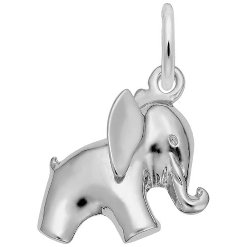 Sterling Silver Baby Elephant Charm by Rembrandt Charms