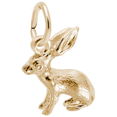 14K Gold Bunny Accent Charm by Rembrandt Charms