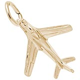 Gold Plate Military Plane Charm by Rembrandt Charms