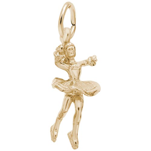 14K Gold Twirling Ice Skater Charm by Rembrandt Charms