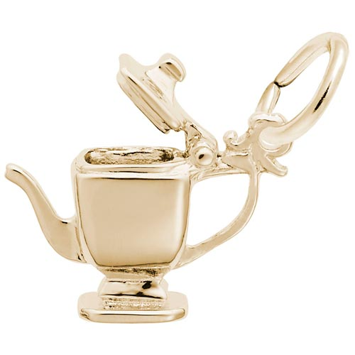 10K Gold Teapot Charm by Rembrandt Charms