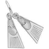 14K White Gold Swim Fins Charm by Rembrandt Charms