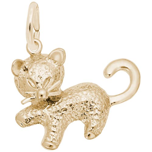 10K Gold Kitten Charm by Rembrandt Charms