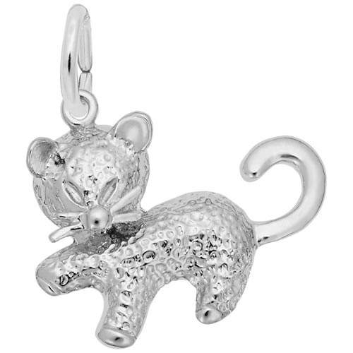 Sterling Silver Kitten Charm by Rembrandt Charms