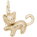 14k Gold Kitten Charm by Rembrandt Charms