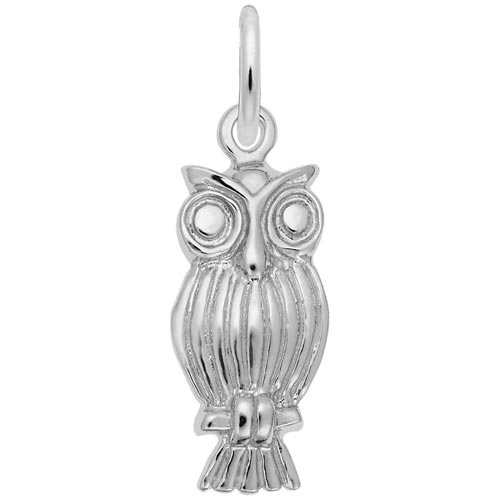 Sterling Silver Screech Owl Charm by Rembrandt Charms