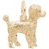 Gold Plate Poodles Dog Charm by Rembrandt Charms