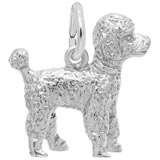 14K White Gold Poodles Dog Charm by Rembrandt Charms
