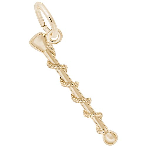 Gold Plate Baton Charm by Rembrandt Charms