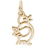 14k Gold Flappy Chick Charm by Rembrandt Charms