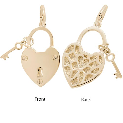 14K Gold Locked with Love by Rembrandt Charms