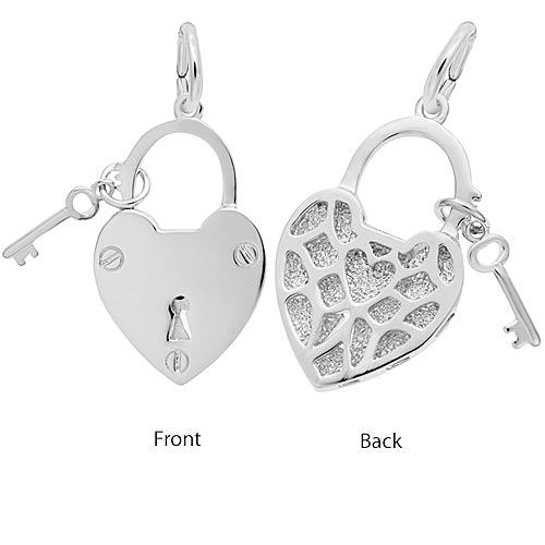 Sterling Silver Locked with Love by Rembrandt Charms
