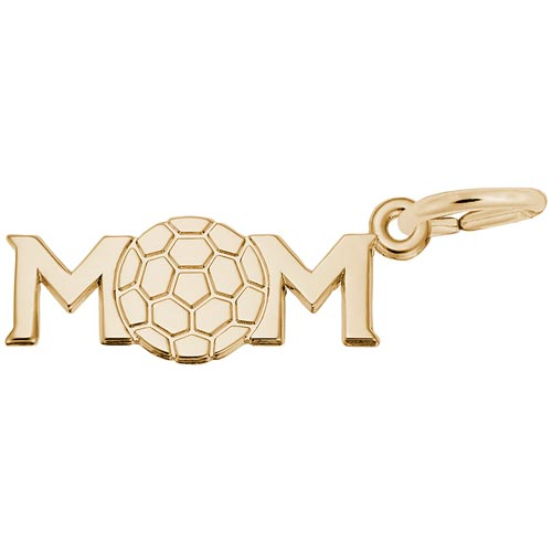 Gold Plate Soccer Mom Charm by Rembrandt Charms