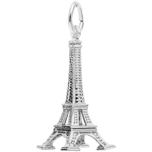 14k White Gold Eiffel Tower Charm by Rembrandt Charms