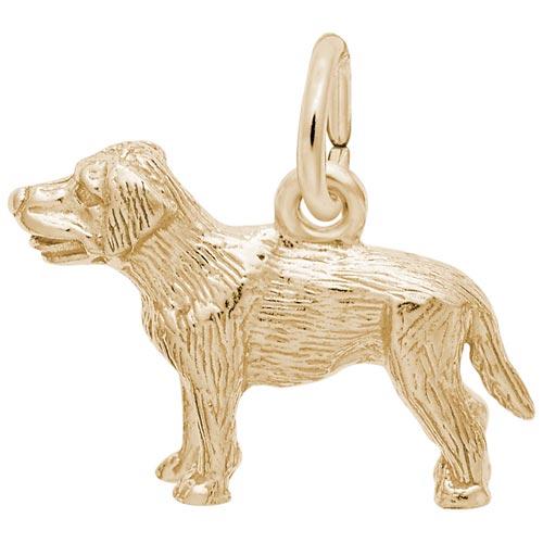 14K Gold Labrador Retriever Charm by Rembrandt Charms