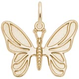 Gold Plated Butterfly Charm by Rembrandt Charms
