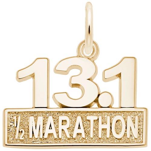 14k Gold 13.1 Marathon Charm by Rembrandt Charms