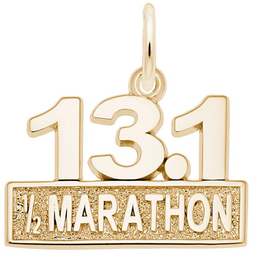 Gold Plated 13.1 Marathon Charm by Rembrandt Charms