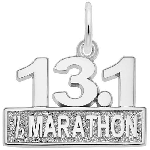 14k White Gold 13.1 Marathon Charm by Rembrandt Charms