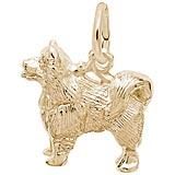 Gold Plate Samoyed Dog Charm by Rembrandt Charms