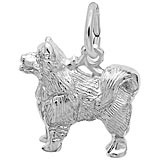 14K White Gold Samoyed Dog Charm by Rembrandt Charms