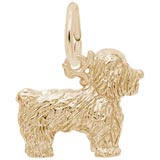 14K Gold Bichon Frise Dog Charm by Rembrandt Charms