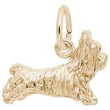 10K Gold Terrier Dog Charm by Rembrandt Charms
