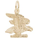 Gold Plated American Bald Eagle Charm by Rembrandt Charms