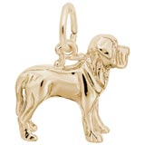 Gold Plate Mastiff Dog Charm by Rembrandt Charms