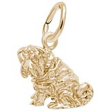 Gold Plate Shar Pei Dog Charm by Rembrandt Charms