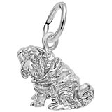 14K White Gold Shar Pei Dog Charm by Rembrandt Charms