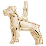 Gold Plate Rottweiler Charm by Rembrandt Charms