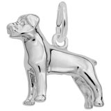 14K White Gold Rottweiler Charm by Rembrandt Charms