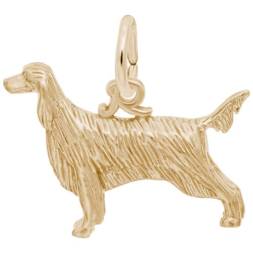 14K Gold Irish Setter Charm by Rembrandt Charms