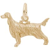 Gold Plate Irish Setter Charm by Rembrandt Charms