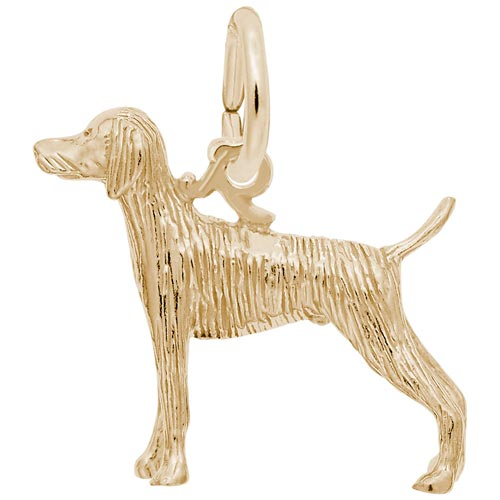 14k Gold Weimaraner Dog Charm by Rembrandt Charms