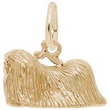 Gold Plate Pekingese Dog Charm by Rembrandt Charms