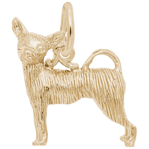 14K Gold Chihuahua Dog Charm by Rembrandt Charms