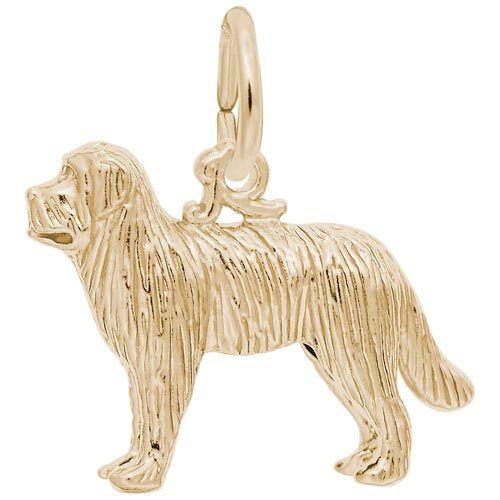 14K Gold Newfoundland Dog Charm by Rembrandt Charms