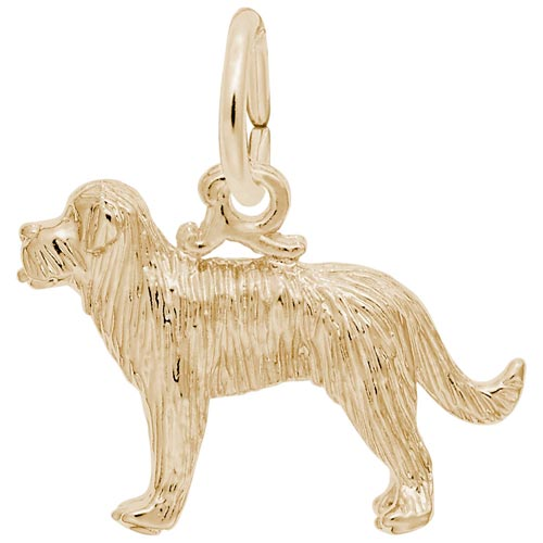 14K Gold St Bernard Dog Charm by Rembrandt Charms