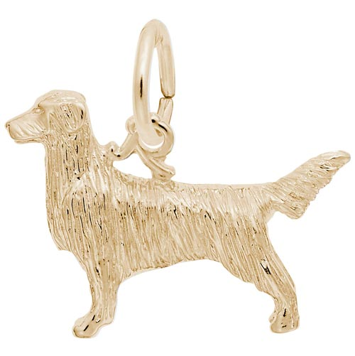 14K Gold Retriever Charm by Rembrandt Charms