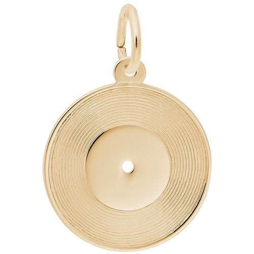 14K Gold Record Charm by Rembrandt Charms