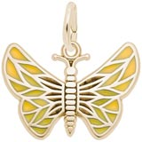 14k Gold Painted Wings Butterfly Charm by Rembrandt Charms