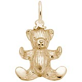 14K Gold Teddy Bear Charm by Rembrandt Charms