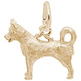 Gold Plated Husky Dog Charm by Rembrandt Charms