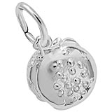 14K White Gold Cheeseburger Charm by Rembrandt Charms