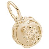 Gold Plate Cheeseburger Charm by Rembrandt Charms